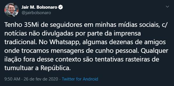 Bolsonaro - twitter